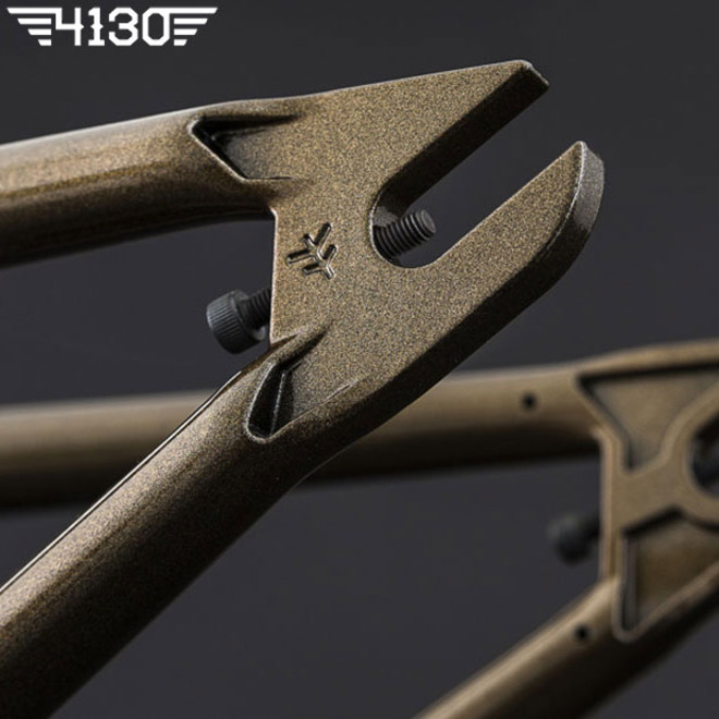 FLY GEO 2 BMX Frame 21 TT -Gloss Metallic Brown- [Courage Adams Color Way]