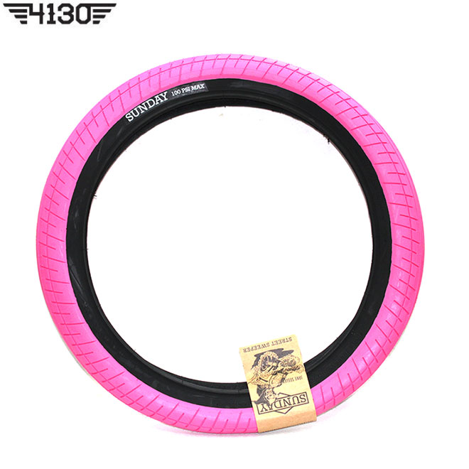 SUNDAY Street Sweeper Tire -PINK / BK wall- 2.4""