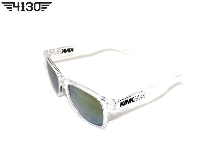 Kink New Safety Glasses -Clear Frame With Tinted Lenses-