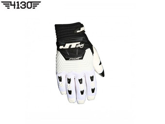 [쥬니어 사이즈 입고] JT Racing THROTTLE GLOVE -White / Black- [S 사이즈]