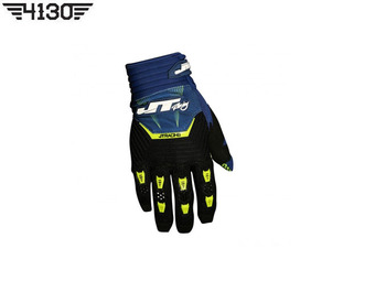 [쥬니어 사이즈 입고] JT Racing THROTTLE GLOVE -Blue / Black / Green- [S 사이즈]