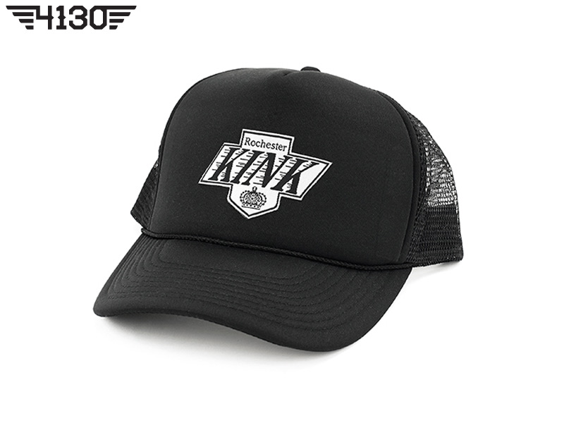Kink Crowned Mesh Snap Back  -Black-