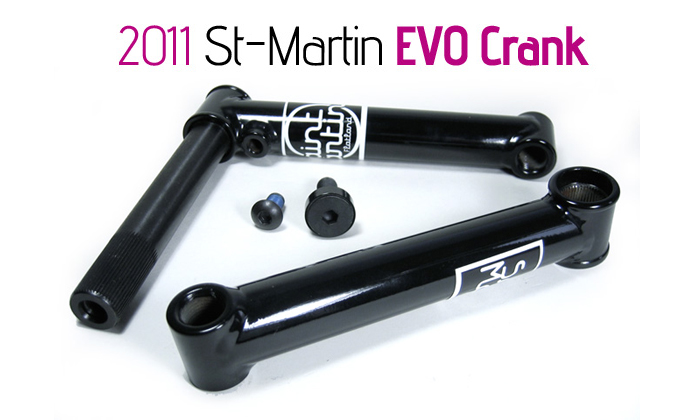 ST-MARTIN EVO CRANK -150mm-[Clear]